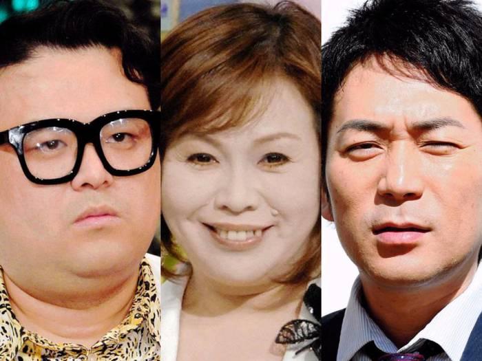 とろサーモン久保田とスーパーマラドーナ武智の直接謝罪を断った上沼恵美子(中央)