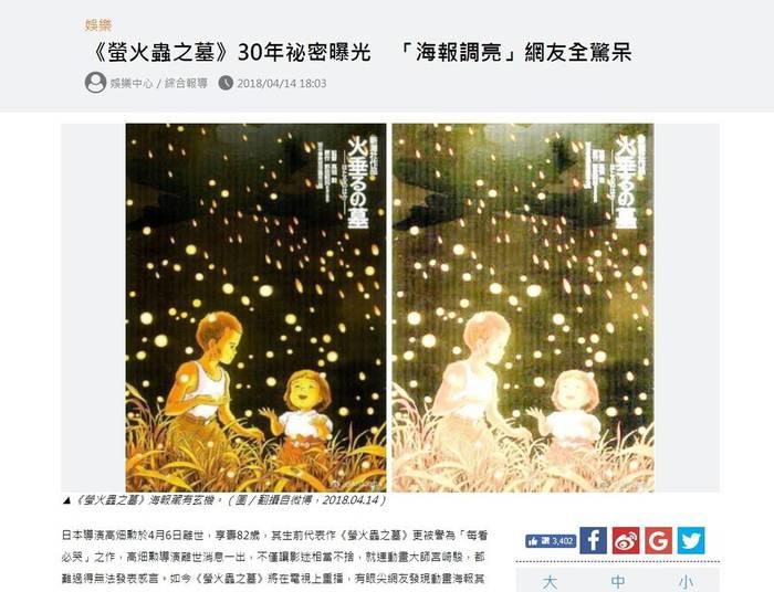 亡くなった高畑勲監督のアニメ映画「火垂(ほた)るの墓」(1988年)がテレビ放映されたのを機に、公開当時のポスターにネット上で関心が集まっている。