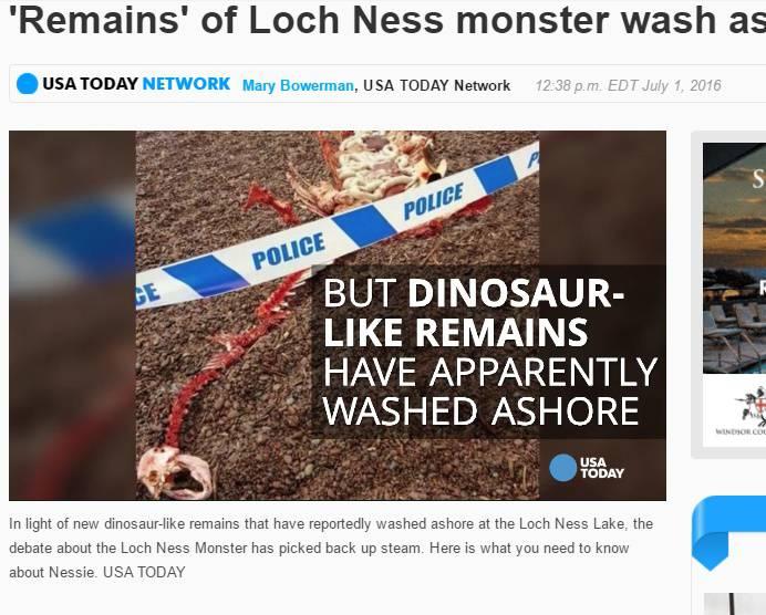 【イギリス】ネッシーの死骸? ネス湖で謎の死骸にひと騒動関連ニュース国際ニュース+