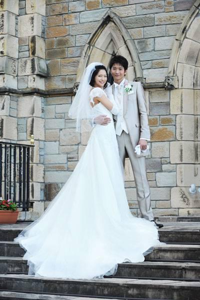 美しすぎる高身長カップル!向井&榮倉『遺産争族』でのウエディングショット初公開